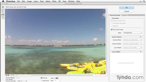 Fixing lens distortion: After Effects Guru: Working with Photoshop Files