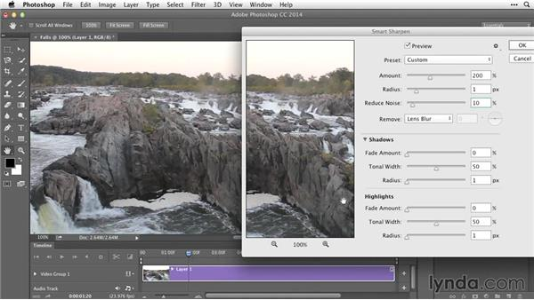 Refining video with Smart Sharpen and blur reduction: After Effects Guru: Working with Photoshop Files