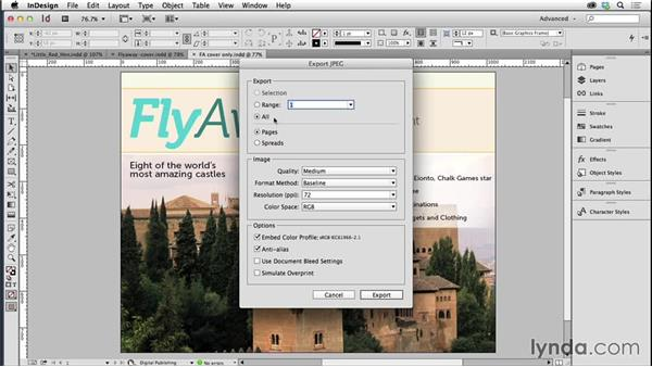 Creating and optimizing a cover image: Creating Fixed-Layout EPUBs with InDesign CC