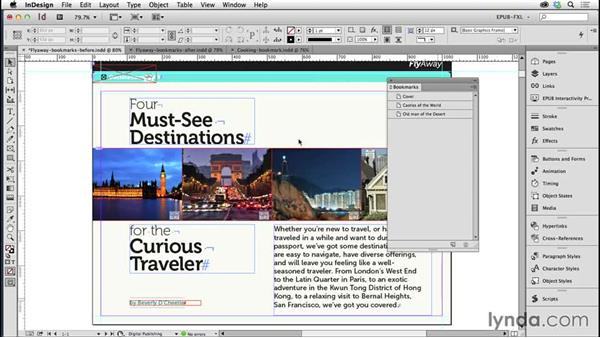 Using bookmarks instead of a TOC style for navigation: Creating Fixed-Layout EPUBs with InDesign CC