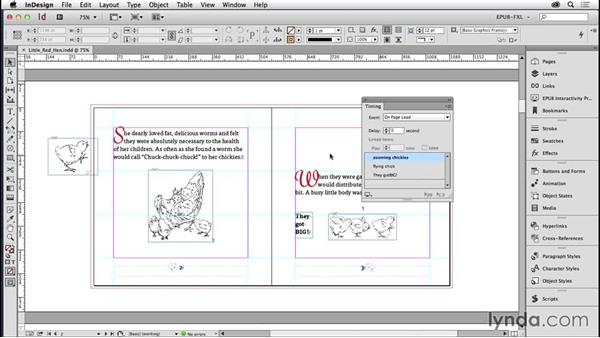 Managing the sequence of multiple animations: Creating Fixed-Layout EPUBs with InDesign CC