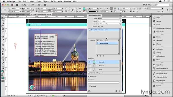 Adding pop-ups with Hide/Show buttons: Creating Fixed-Layout EPUBs with InDesign CC