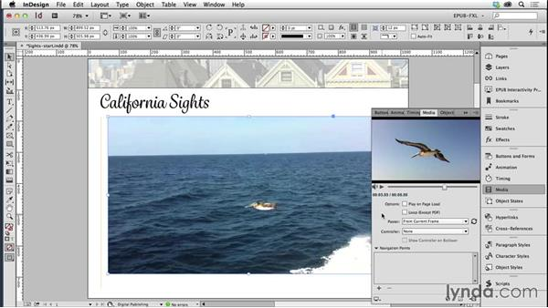 Adding video and sound files: Creating Fixed-Layout EPUBs with InDesign CC