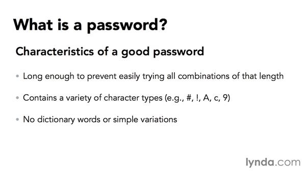 Constructing a secure password: Securing Microsoft Office Files