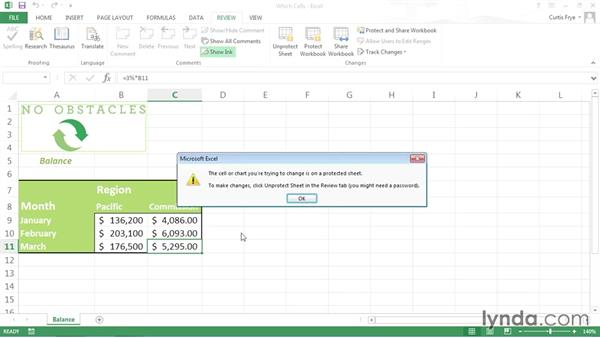 Controlling which Excel worksheet cells users can edit: Securing Microsoft Office Files