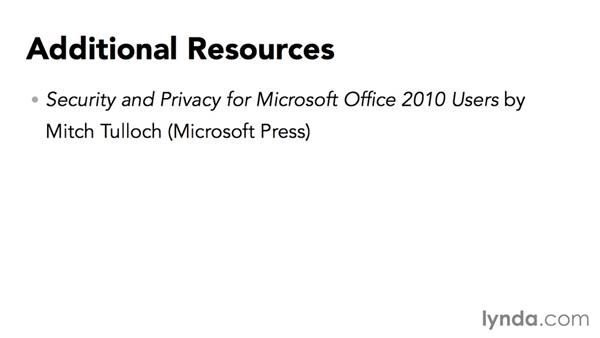 Further resources: Securing Microsoft Office Files