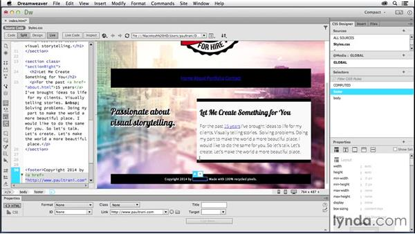 Adding links: Creating a First Website in Dreamweaver CC 2014