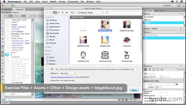 Adding multiple pages: Creating a First Website in Dreamweaver CC 2014