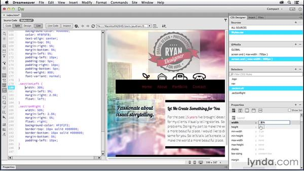 Creating a layout for mobile: Creating a First Website in Dreamweaver CC 2014