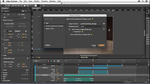 Inserting an Edge Animate composition: Creating a First Website in Dreamweaver CC 2014
