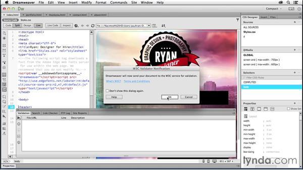 Finalizing the website: Creating a First Website in Dreamweaver CC 2014