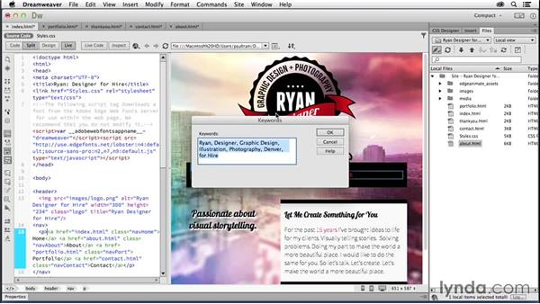 Optimizing for search engines: Creating a First Website in Dreamweaver CC 2014