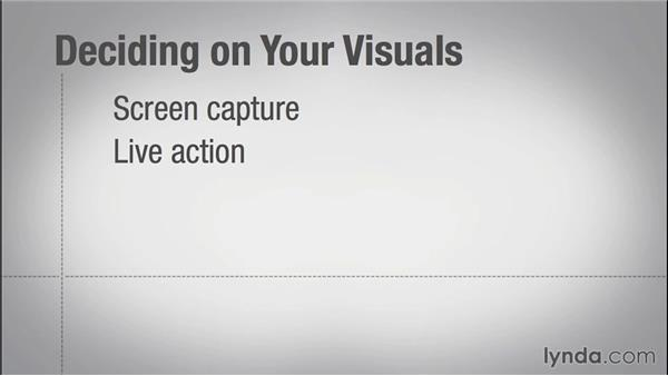 Deciding on what visuals to use: Instructional Design Essentials: Creating Video Training