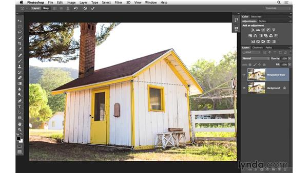 Correcting distortion with Perspective Warp (CC 2014.1): Photoshop CC for Photographers: Intermediate