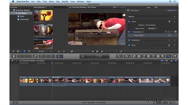 Keyframing masks in Final Cut Pro X: Video Post Tips Weekly