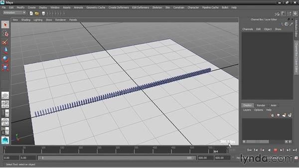 Controlling playback speed: Dynamic Simulations with Bullet Physics in Maya