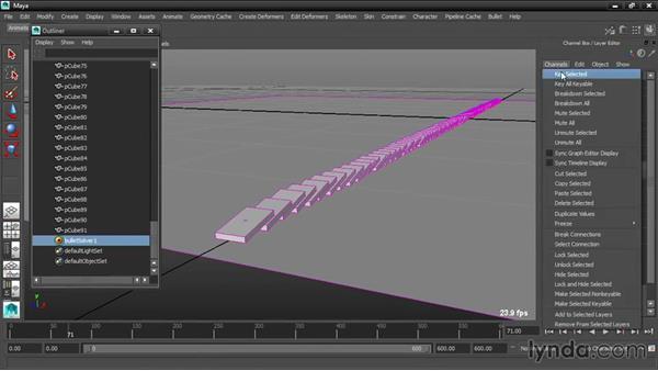 Keyframing gravity: Dynamic Simulations with Bullet Physics in Maya