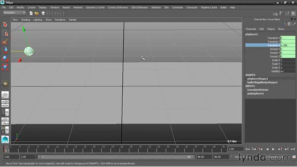 Animating transforms with keyframes: Dynamic Simulations with Bullet Physics in Maya