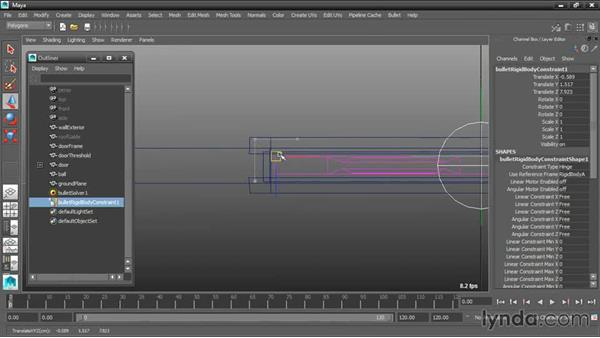 Transforming the constraint: Dynamic Simulations with Bullet Physics in Maya