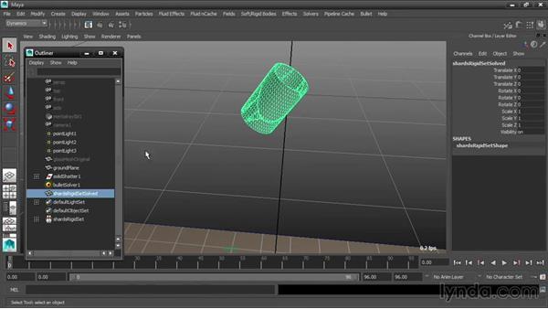 Creating a rigid set: Dynamic Simulations with Bullet Physics in Maya