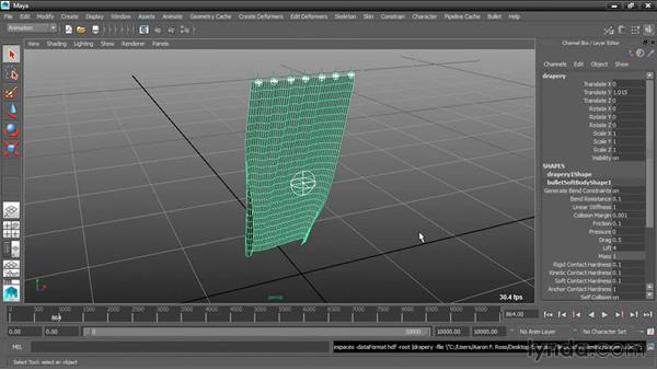 Caching soft body animation with Alembic: Dynamic Simulations with Bullet Physics in Maya