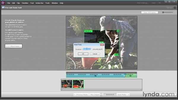 Creating motion paths with the Pan & Zoom tool: Up and Running with Premiere Elements 13