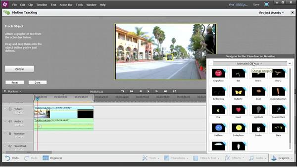Using the Motion Tracking tool: Up and Running with Premiere Elements 13