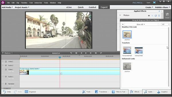 Adding and customizing video effects: Up and Running with Premiere Elements 13