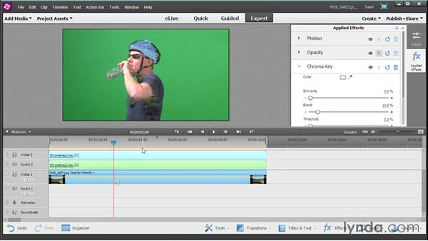 Using Chroma Key and Videomerge: Up and Running with Premiere Elements 13