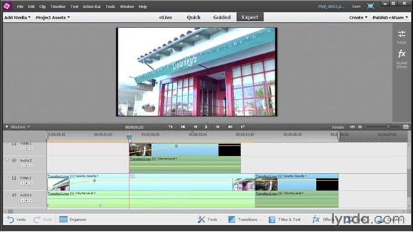 Fading in and out of scenes: Up and Running with Premiere Elements 13