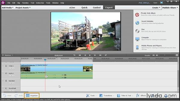 Uploading your movie to other social media sites: Up and Running with Premiere Elements 13