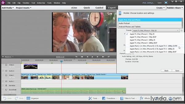 Outputting your video to a portable device: Up and Running with Premiere Elements 13