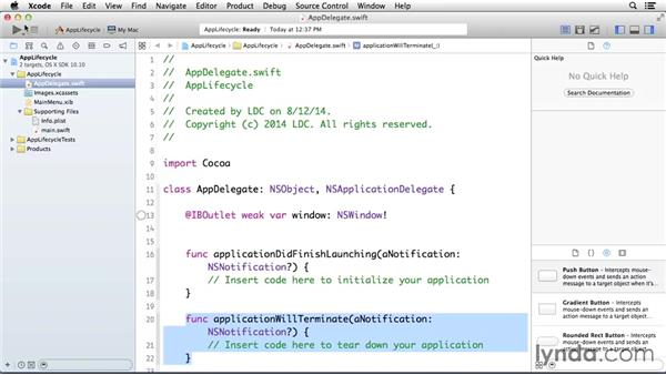 Using the exercise files: Cocoa with Swift Essential Training