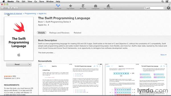 Where to find out more about Swift: Cocoa with Swift Essential Training