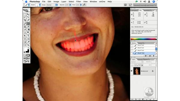 People - whitening teeth 2: Enhancing Digital Photography with Photoshop CS2