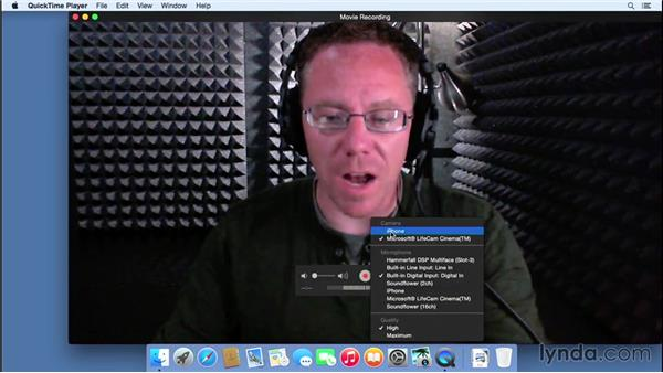 Recording an iPhone screen on a Mac using QuickTime: Mac OS X Yosemite New Features