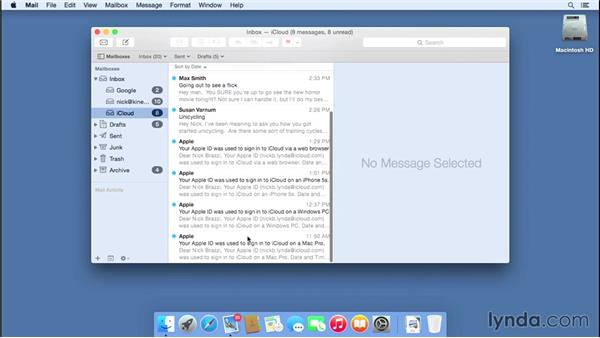 Working with iCloud Mail: iCloud Essential Training