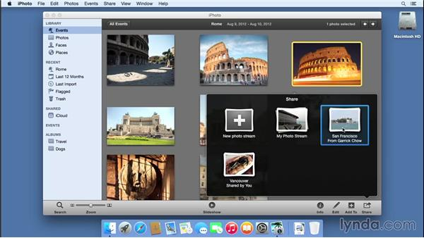 Sharing photos from iPhoto: iCloud Essential Training