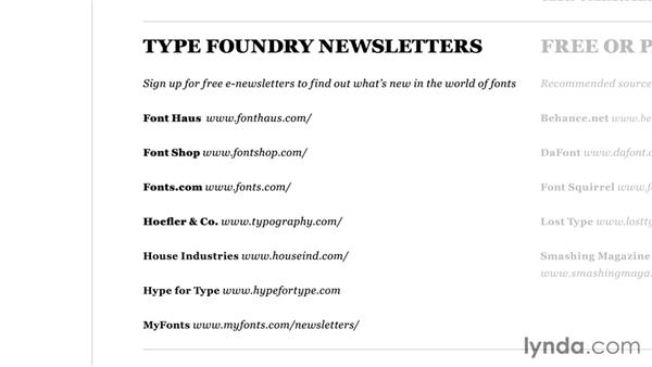 Finding the right type and new releases: Foundations of Typography: Choosing and Combining Typefaces