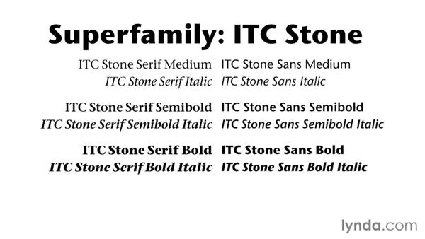 Reaping the benefits of a super family: Foundations of Typography: Choosing and Combining Typefaces