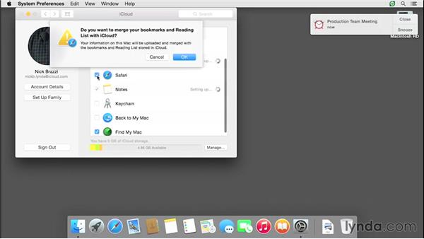 Synchronizing calendars, contacts, and other data: iCloud Essential Training