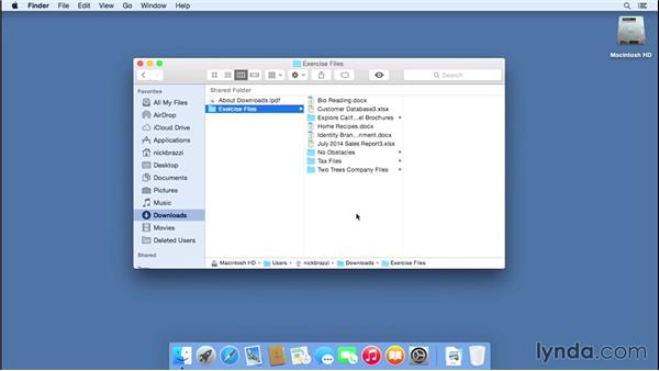 Using the exercise files: Mac OS X Yosemite Essential Training