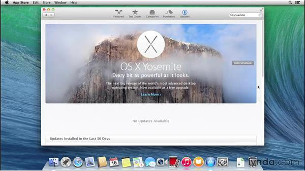 Installing and running Mac OS X 10.10 for the first time: Mac OS X Yosemite Essential Training