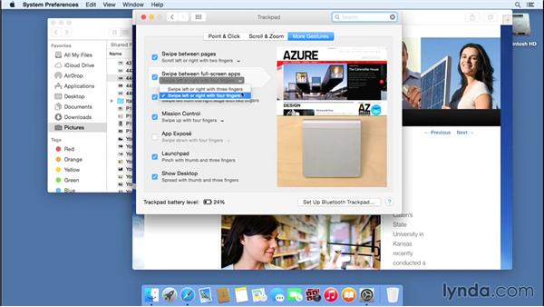 Understanding gesture control with mice and trackpads: Mac OS X Yosemite Essential Training