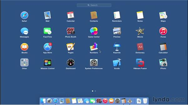 Launching and quitting applications: Mac OS X Yosemite Essential Training