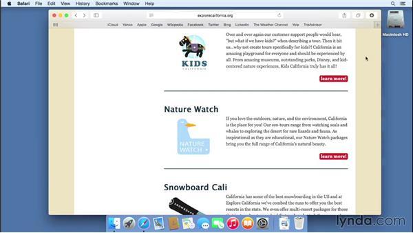Downloading files: Mac OS X Yosemite Essential Training