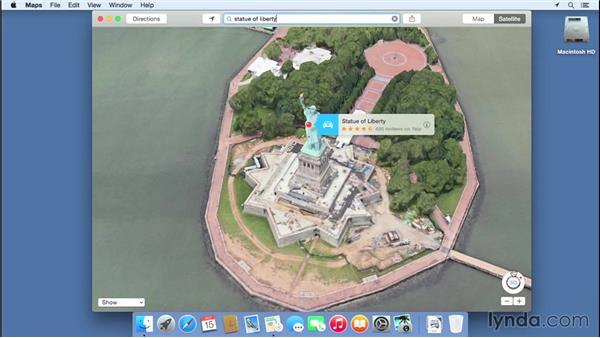 Using Maps: Mac OS X Yosemite Essential Training