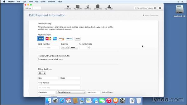 Buying and reading books with iBooks: Mac OS X Yosemite Essential Training