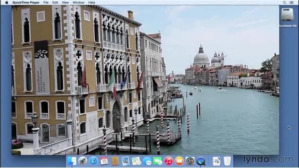 Working with the QuickTime video player: Mac OS X Yosemite Essential Training