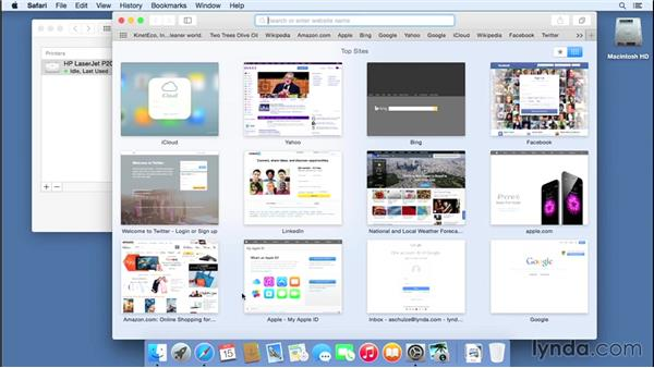 Setting up a printer: Mac OS X Yosemite Essential Training
